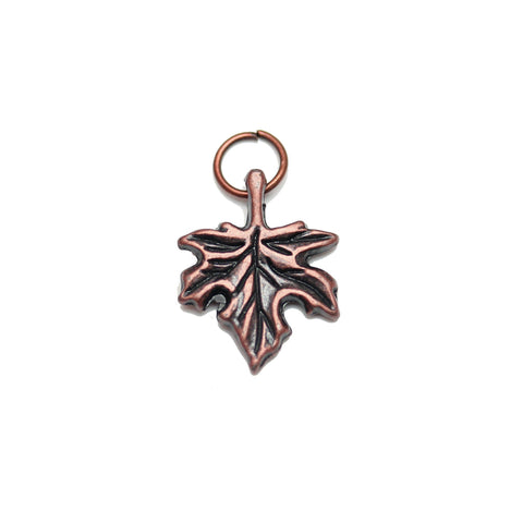 Charms, Charm, Charm Beads, Charm Bead, Copper Tone, Antique, Leaf, Leaf Charm, Leaf Charms, Antique Copper, Copper, Metal, 13x17mm, 13mm, 17mm