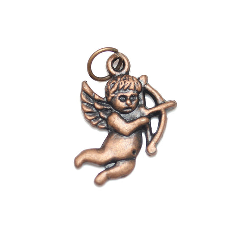 Charms, Charm, Charm Beads, Charm Bead, Copper Tone, Antique, Cupid, Cupid Charm, Cupid Charms, Antique Copper, Copper, Metal, 15x22mm, 15mm, 22mm