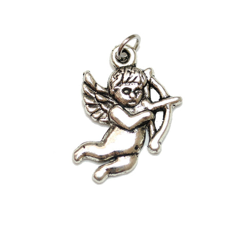 Charms, Charm, Charm Beads, Charm Bead, Plated, Antique, Cupid, Cupid Charm, Cupid Charms, Silver, Antique SIlver, Metal, 15x22mm, 15mm, 22mm