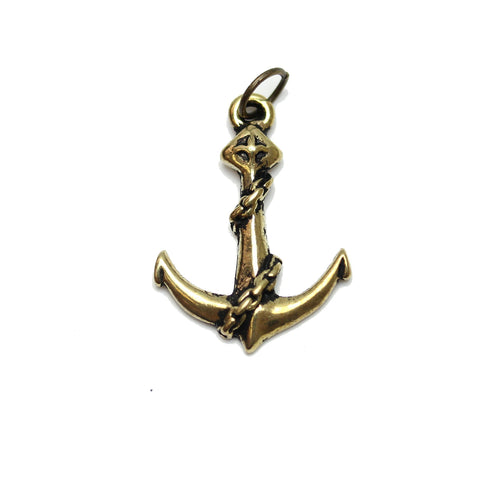 Charms, Charm, Charm Beads, Charm Bead, Gold Tone, Antique, Anchor, Anchor Charm, Anchor Charms, Antique Gold, Gold, Metal, 19x25mm, 19mm, 25mm