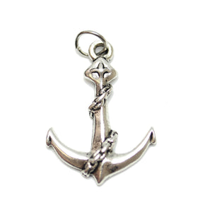 Antique Silver Plated Large Anchor Charm 19X25mm  - 2pcsCharm by Bead Gallery