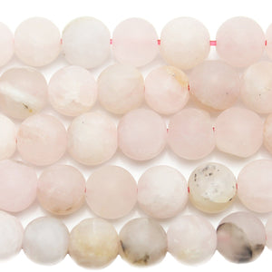 Rose Quartz Stone Matte Round 8mm Beads by Halcraft Collection