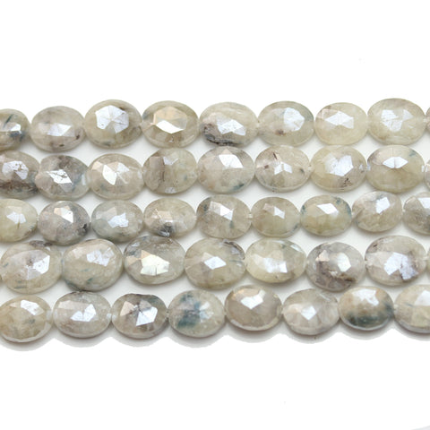 Beads, Bead, Semi Precious, Semiprecious, Semi-Precious, Stone, Stone Beads, Stone Bead, Opal Stone, Opal Faceted Stone, Oval, Opal, Natural, White, Grey, Faceted, Luster, 7x9mm, 7mm, 9mm