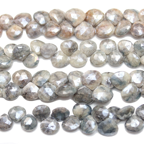 Beads, Bead, Semi Precious, Semiprecious, Semi-Precious, Stone, Stone Beads, Stone Bead, Opal Stone, Opal Faceted Stone, Teardrop, Opal, Natural, White, Grey, Faceted, Luster, 8-10mm, 8mm, 9mm, 10mm