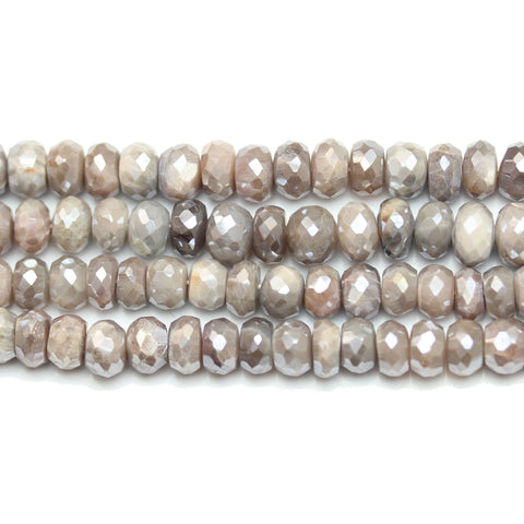 Beads, Bead, Semi Precious, Semiprecious, Semi-Precious, Stone, Stone Beads, Stone Bead, Opal Stone, Opal Faceted Stone, Rondell, Opal, Natural, White, Grey, Faceted, Luster, 5x8mm, 5mm, 8mm