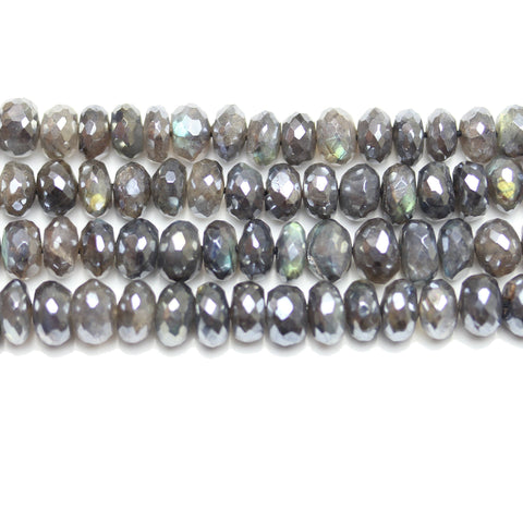 Beads, Bead, Semi Precious, Semiprecious, Semi-Precious, Stone, Stone Beads, Stone Bead, Opal Stone, Opal Faceted Stone, Rondell, Opal, Natural, Black, Grey, Faceted, Luster, 4x7mm, 4mm, 7mm