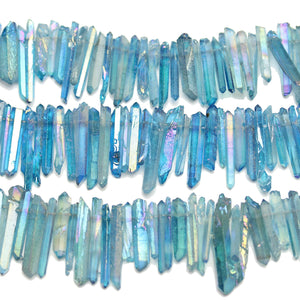 Aqua AB Coated Quartz Crystal 3x18-25mm