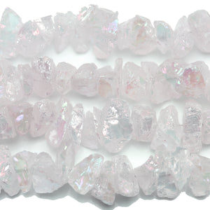Rainbow Luster Coated Quartz Crystal Nuggets 10-25mm