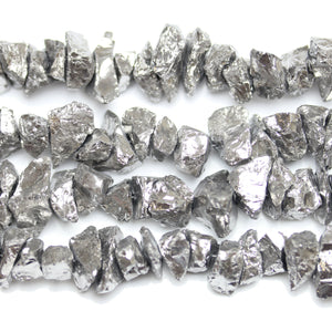 Silver Iris Coated Quartz Stone Nuggets 10-25mm