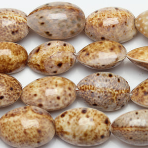 Beads, Bead, Shell Beads, Shell Bead, Shell, Oval, Oval Beads, Oval Bead, Brown, Natural, Amber, Philippine, Philippine Shell Bead, 18x25mm approx., 18mm, 25mm
