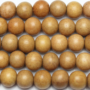 Beads, Bead, Wood Beads, Wood Bead, Wood, Round, Round Beads, Round Bead, Natural, Tan, Yellow, Philippine, Philippine Wood Bead, 11-12mm, 11mm, 12mm