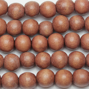 Philippine Wood Round 9-10mm Beads by Halcraft Collection