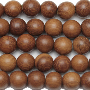 Philippine Brown Wood Round 9-10mm Beads by Halcraft Collection