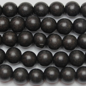 Philippine Black Wood Round 11-12mm Beads by Halcraft Collection
