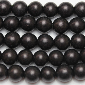 Beads, Bead, Wood Beads, Wood Bead, Wood, Round, Round Beads, Round Bead, Black, Philippine, Philippine Wood Bead, 9-10mm, 9mm, 10mm