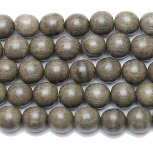Beads, Bead, Wood Beads, Wood Bead, Wood, Round, Round Beads, Round Bead, Grey, Philippine, Philippine Wood Bead, 11-12mm, 11mm, 12mm