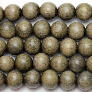 Beads, Bead, Wood Beads, Wood Bead, Wood, Round, Round Beads, Round Bead, Grey, Philippine, Philippine Wood Bead, 9-10mm, 9mm, 10mm