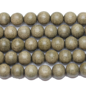 Beads, Bead, Wood Beads, Wood Bead, Wood, Round, Round Beads, Round Bead, Light Grey, Philippine, Philippine Wood Bead, 11-12mm, 11mm, 12mm