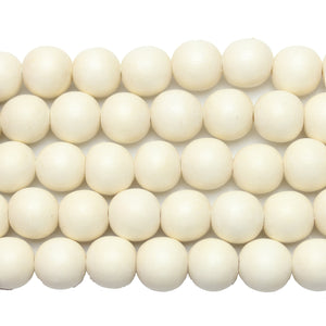 Philippine White Wood Round 12mm Beads by Halcraft Collection