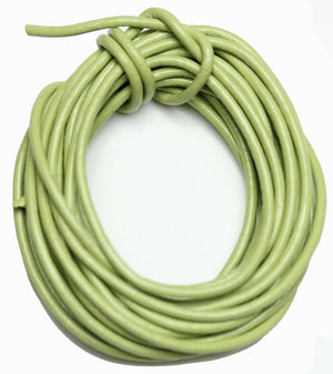 Real Leather Cording 2mm Sage Green PolishedCording de Bead Gallery