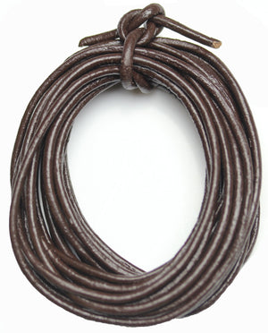 Real Leather Cording 2mm  Dark Brown PolishedCording by Halcraft Collection