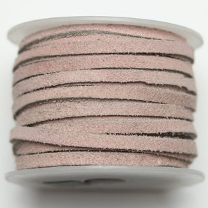 Dyed Suede Cording 3mm Light PinkCording by Halcraft Collection