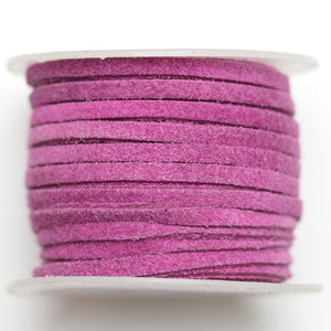 Dyed Suede Cording 3mm  PlumCording by Bead Gallery
