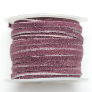 Dyed Suede Cording 3mm  GrapeCording by Bead Gallery