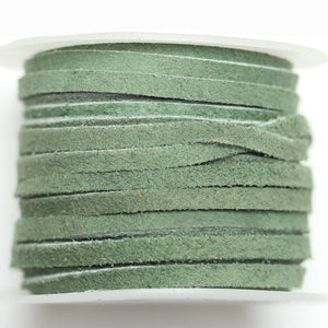 Dyed Suede Cording 3mm  Dark Olivine GreenCording by Halcraft Collection
