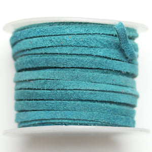 Dyed Suede Cording 3mm Teal