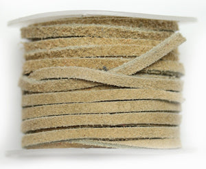 Natural Suede Cording 3mm - Natural Tan ColorCording by Halcraft Collection