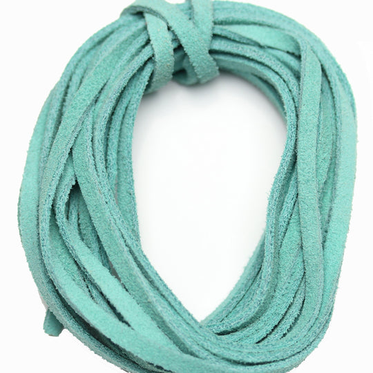 Dyed Suede Cording 3mm  TurquoiseCording by Halcraft Collection