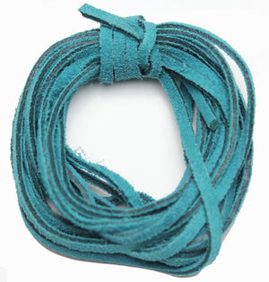 Cording, Cord, Cords, Leather, Suede, Dyed Suede, 3mm, 3 Meter Cord, 10 Meter Cord, Teal, Teal Cord