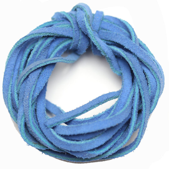 Teñido Suede Cording 3mm Dusty Royal BlueCording de Bead Gallery