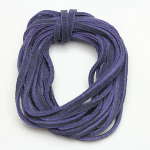 Cording, Cord, Cords, Leather, Suede, Dyed Suede, 3mm, 3 Meter Cord, 10 Meter Cord, Dark Purple, Purple, Purple Cord