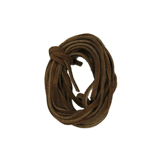 Natural Suede Cording 3mm  Flat Light BrownCording by Bead Gallery
