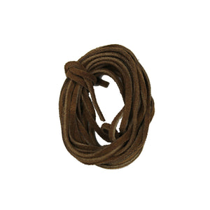 Natural Suede Cording 3mm Flat Light Brown