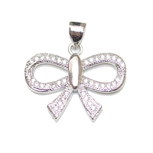 CZ Micro Pave Bow PendantPendant by Bead Gallery