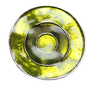 Green Enameled 48mm  Bullseye PendantPendant by Halcraft Collection