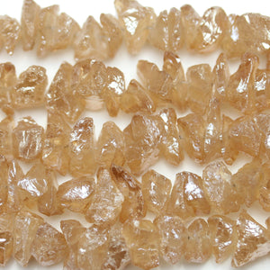 Amber Luster Coated Quartz Crystal Nuggets 15mm
