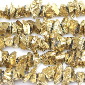 Bronze Iris Coated Quartz Crystal Nuggets 15mm
