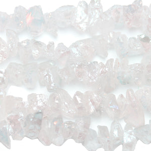 Rainbow Luster Coated Quartz Crystal Nuggets 12mm