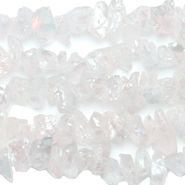 Beads, Bead, Semi-precious, Semiprecious, Semi Precious, Semiprecious Beads, Semiprecious Bead, Stone, Stone Beads, Stone Bead, Nugget Bead, Nugget Beads, Nugget, Crystal, White, Luster, Coated, Big Stone, 12mm approx., 12mm, Quartz Crystal, Crystals