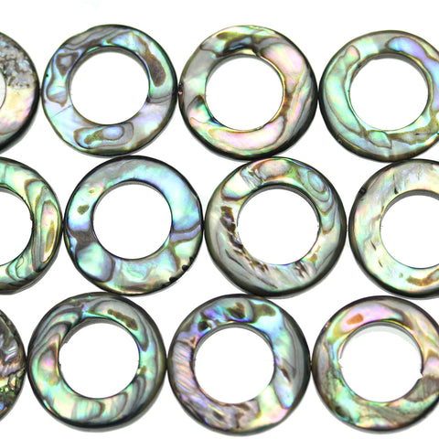 Beads, Bead, Shell, Shell Beads, Shell Bead, Abalone, Abalone Beads, Abalone Bead, Loop, Loop Bead, Loop Beads, Multi, Rainbow, 18mm