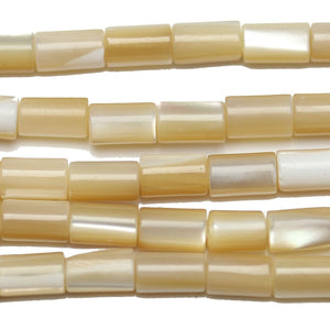 Beads, Bead, Shell, Shell Beads, Shell Bead, Mother of Pearl, Mother of Pearl Beads, Mother of Pearl Bead, MOP, Tube, Tube Bead, Tube Beads, White, Amber, Natural, 3x5mm, 3mm, 5mm