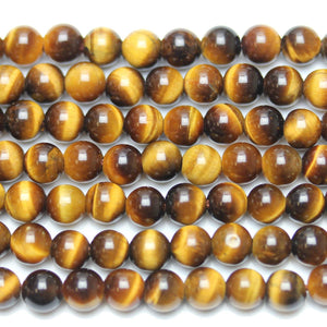 Tiger Eye Stone (A Grade) Round 6mm  - 15 inches