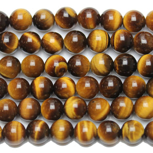 Tiger Eye Stone (A Grade) Round 8mm  - 15 inches