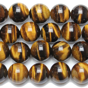 Tiger Eye Stone (A Grade) Round 14mm  - 15 inches