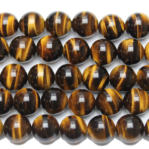 Tiger Eye Stone (AA Grade) Round 12mm  - 15 inches