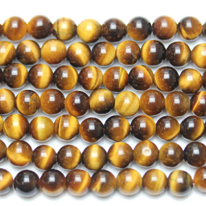Tiger Eye Stone (AAA Grade) Round 6mm  - 15 inches
